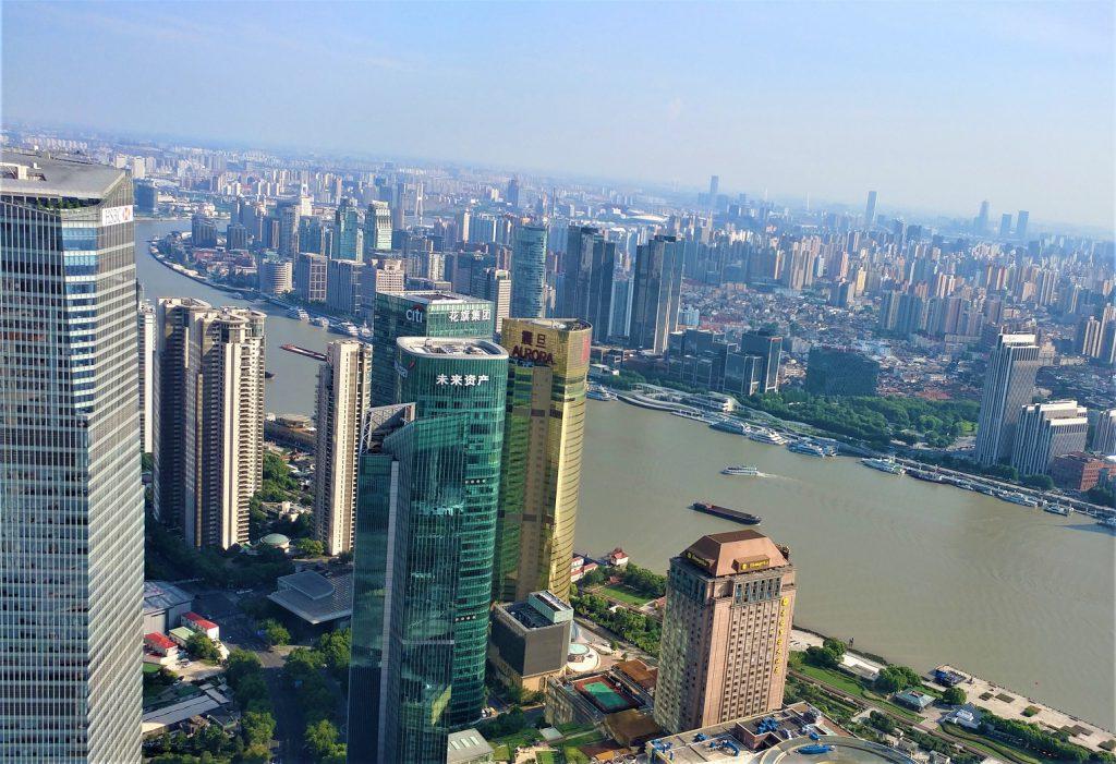 آسمان خراش های شانگهای از نمای بالا
